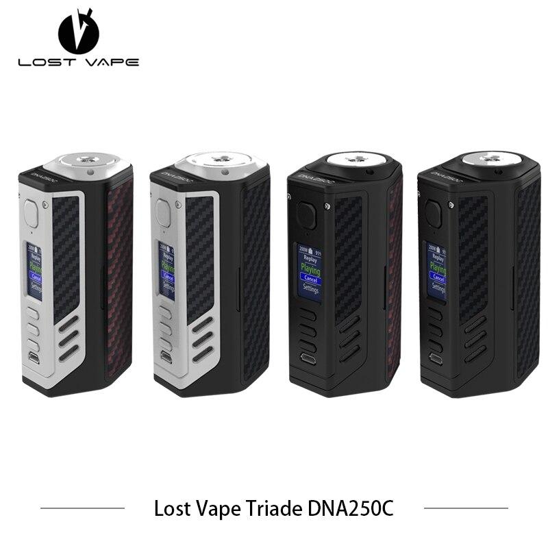 100% Originale Perso Vape Triade DNA250C 300 W box mod triple 18650 sigaretta Elettronica LostVape Vape Vaporizzatore Aggiornabile Vaper