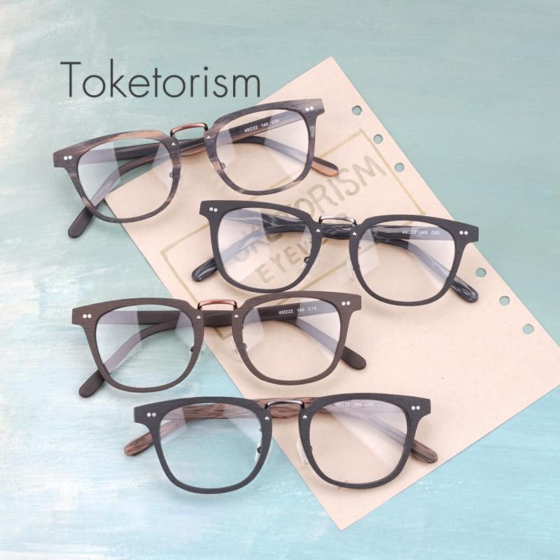 Toketorism Buatan Serat Kayu mode kacamata optik bingkai pria wanita - Aksesori pakaian - Foto 2