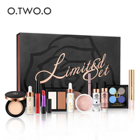 O.TWO.O Black Gold Series 12 Pieces/Set Make Up Tool Kit with Makeup Box Professional Beauty Make Up Set Cosmetics