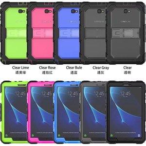 Image 2 - Kid Fall für Samsung Galaxy Tab EINE A6 10,1 2016 T580 T585 SM T585 T580N Tablet Stoßfest Heavy Duty Funda Abdeckung mit Ständer Hang
