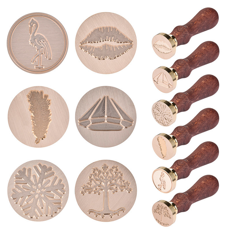 1pc Christmas Snowflake Wax Seal Stamp Retro Wooden Antique Sealing Wax Scrapbooking Stamps Craft Wedding Decorative Invitation 1x wax seal stamp retro wood classic sealing wax seal stamp decorative rose tree of life wedding invitation antique stamp