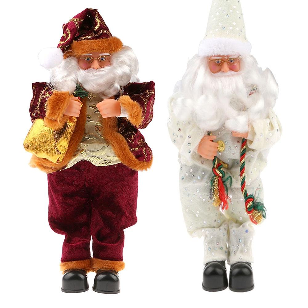 40 cm Duduk Natal Santa Claus Boneka Figurine Mainan Mewah Hadiah Natal Santa Claus Boneka