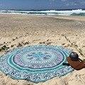 Redondo de la manera de La Gasa Toalla de Playa Impresa Ronda Playa Toallas de Baño Círculo Mantón de la Playa de Bohemia Del Verano 150 cm