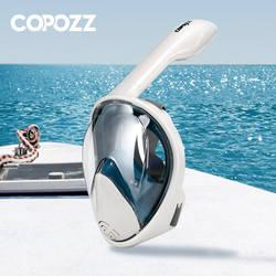 COPOZZ анфас трубка наборы и маски для дайвинга противотуманные очки с Камера монтажа Совместимость подводный широкий угол обзора для