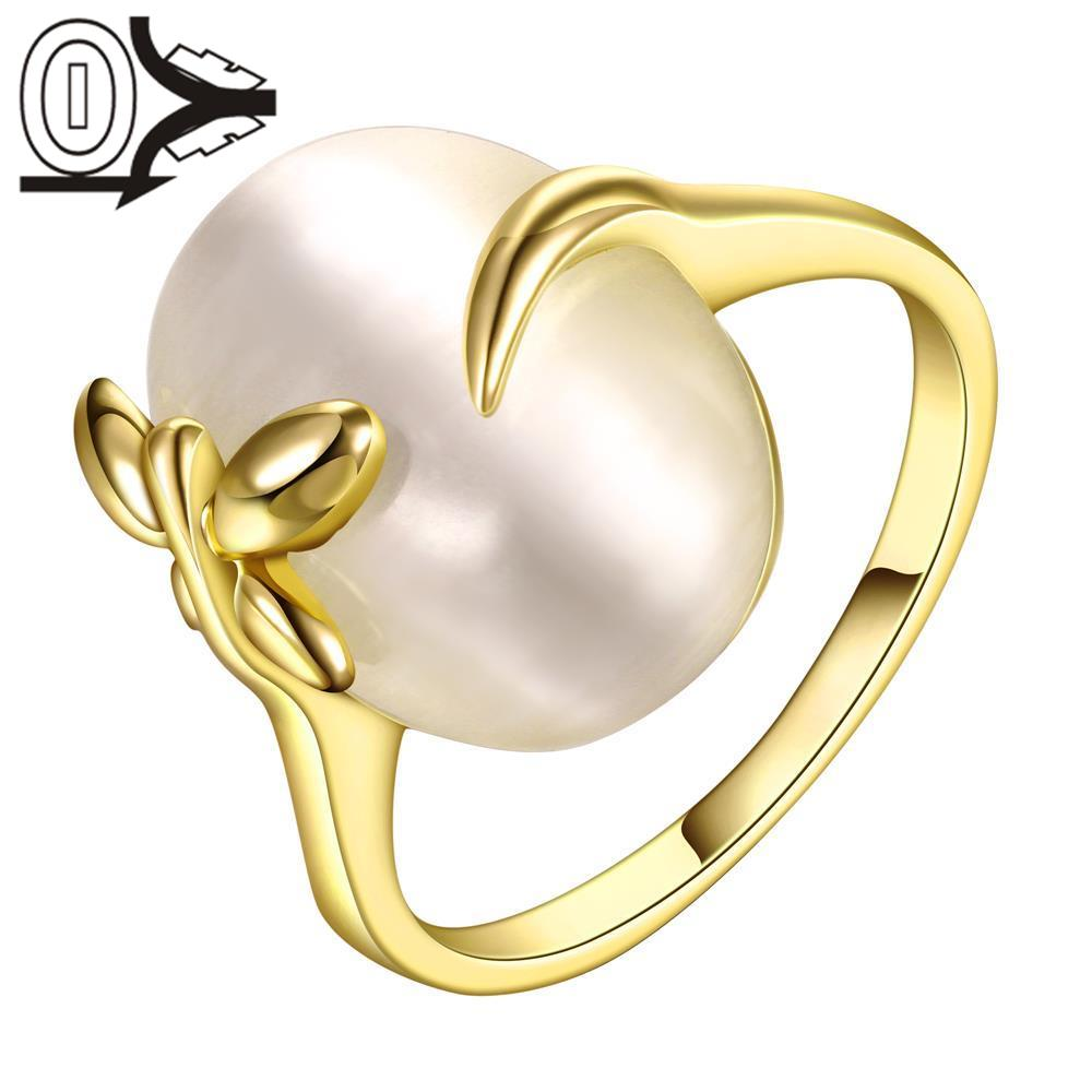 R630 Wholesale High Quality Nickle Free Antiallergic New Fashion Jewelry 18K Gold PlatedRing