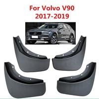 4Pcs/Set Car Mudflaps Splash Guards Mud Flap Mudguards Fender For Volvo V90 2017 2018 2019 Car Accessories