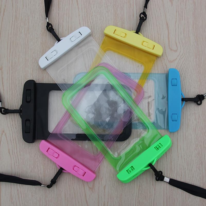 2020 Új telefonzsák víz alatti vízálló telefonzsák búvárszacskó mobiltelefon tok az iphone4 5S 6 7 Plus készülékhez a Samsung Galaxy számára