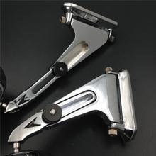 For Motorcycle honda suzuki yamaha kawasaki bike CHROME Diamond shape Rearview Mirrors