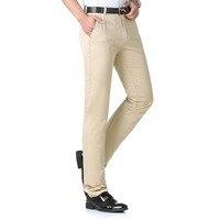 Men Business Casual Pant Khaki Màu Be Cotton Màu Đen Quần Man Slim Fit Pant Kinh Doanh Bình Thường Quần Người Đàn Ông Pantalone Mùa Xuân Mùa Thu