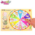 30*22.5*0.8cm Wooden Cartoon Animal Clock Puzzle Kids Color Time Numbers Words Recognization Educational Toys For Children