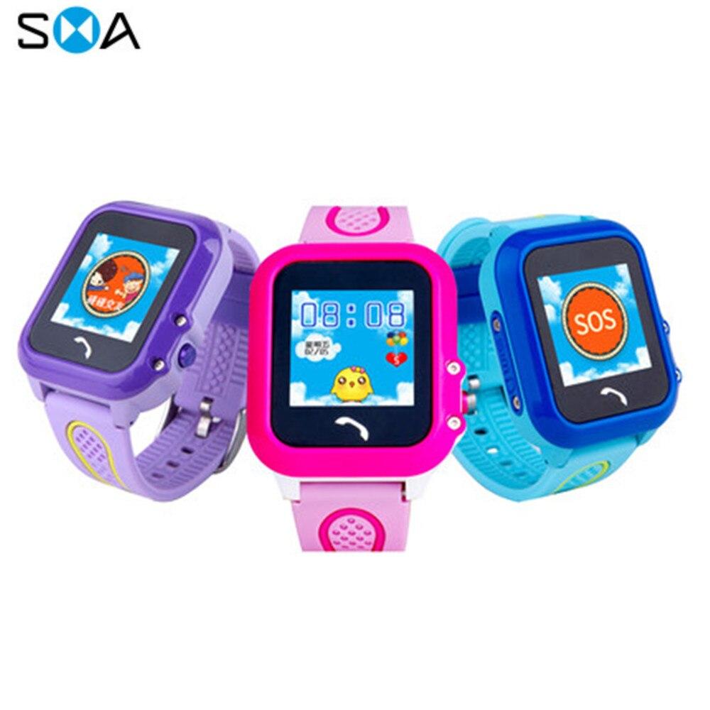 page gps horloge kinderen Waterproof SOS Call Call Parental Control Anti-lost alarm Clock Scan code Electronic watch dz09 q100