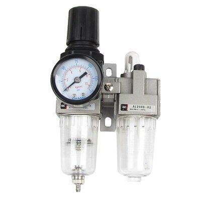 AC2010-02 Polycarbonate Air Source Treatment Pneumatic Filter Regulator w Gauge 3 8 pt port pneumatic filter regulator air source treatment unit w gauge sfc 300