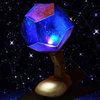 12 Constellations Rotating Cosmos Sky Projection Table Lamp Star Projector Night Light USB Rechargeable Lamp Bedroom Decor