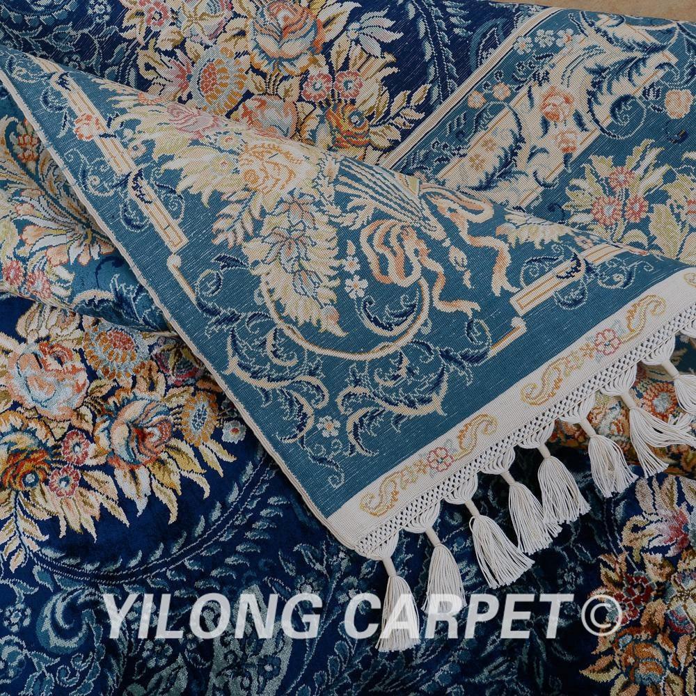 Yilong 5.6'x8 'Αντίκα χειροποίητο περσικό - Αρχική υφάσματα - Φωτογραφία 6