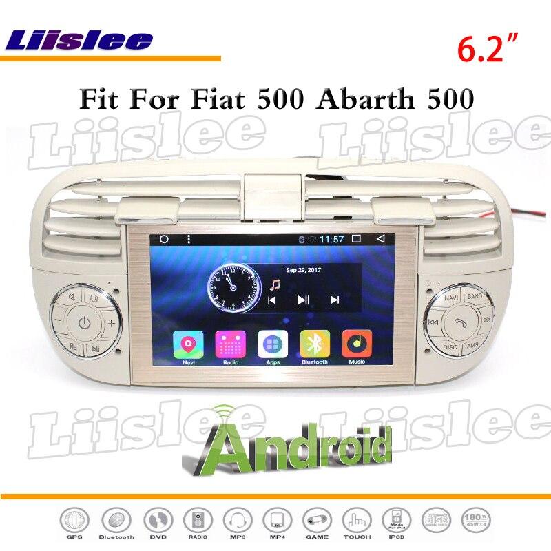 Liislee Pour Fiat 500 Pour Abarth 2007 ~ 2016 Stéréo Radio GPS Nav Navigation 1080 p Système Multimédia à Écran Tactile (pas de Lecteur DVD)