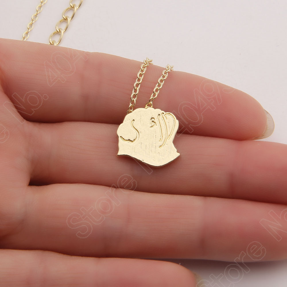 1pcs Pug silhouette Dog Necklace Dog Lover Paw Print Necklace Memorial Tag Necklaces Pendants Silver Plated Choker Women