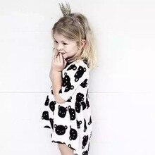 New summer girls dress Children's Princess Dress kids White bear dresses fresh and cool