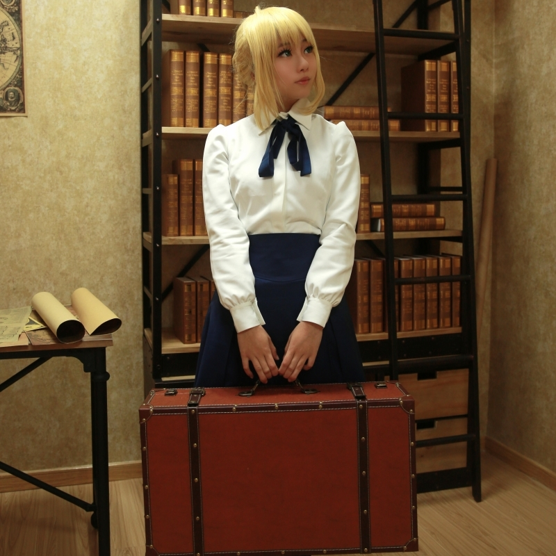 FGO Fate Stay Night Saber Cosplay Costumes Sailor Uniforms Women Dress Halloween Party Clothing