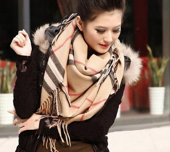 R11 Hot Women Winter Scarf Excellent Girls Cashmere Scarf Winter Warm And Thick Girl Scarf Pashmina 19070cm Free Shipping In Scarves From Womens Clothing