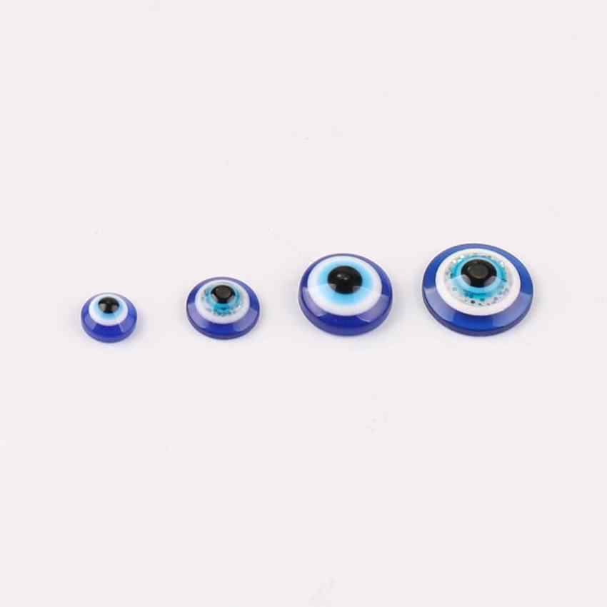 6/8/10/12/14/16/18/20/22mm Turkey Medusa Blue eye evil Nazar Round Acrylic Resin Flat Back Half Beads Craft Scrapbook Decoration