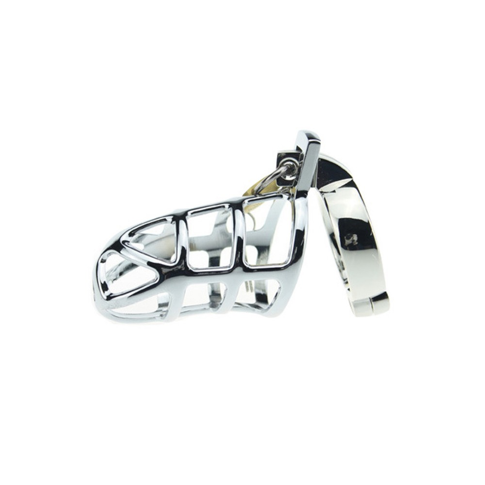 MQFORU Male Chastity Device Multi-Size Zinc Alloy Cock Cages Mens Virginity Lock Penis Ring Adult SM Game Sex Toy for Men