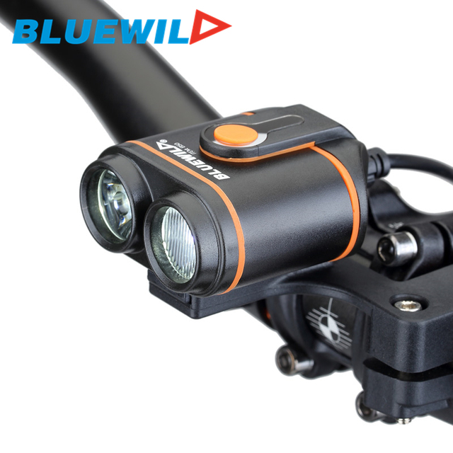 Original BLUEWILD B50 Bicycle Front Lights 2x L2 Bike Lamp Cycling ...