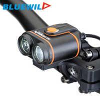 Original BLUEWILD B50 luces delanteras de bicicleta 2x L2 lámpara de bicicleta ciclismo luz LED USB carga impermeable 12000mAh Paquete de batería