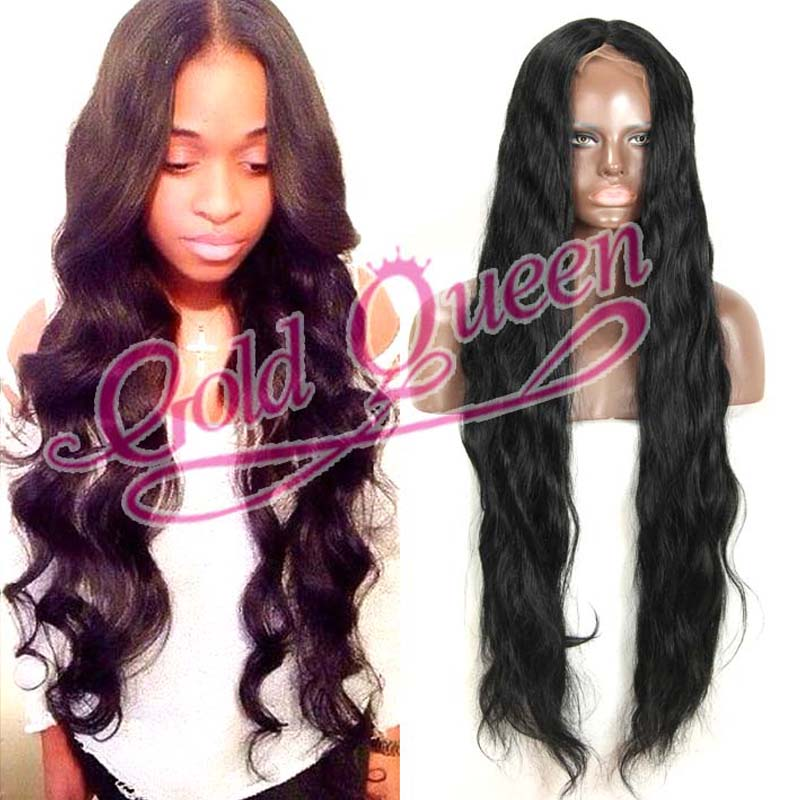 Factory Price 32 Inch Human Hair Lace Front Wig India Remy Kertain