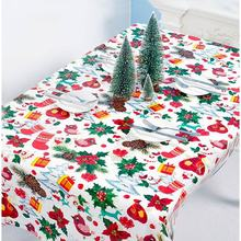 цена на Christmas Print Decorative Table Cloth New Year Rectangular Party Table Covers Waterproof PVC Tablecloth Dining Table Cover