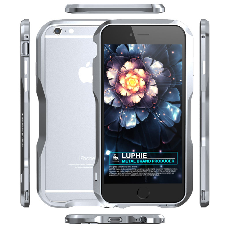imágenes para Caja de aluminio Del Metal Para Apple iPhone 6 Parachoques de Lujo malcolmizing Caso Para el iphone de Apple 6 S Parachoques de acero inoxidable 6 Más iPhone6