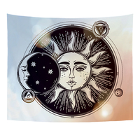 Monily Nordic Abstract Sun Wall Hanging Tapestry Decor Short Plush Material Home Decor Yoga Blanket Living