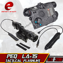 купить Element M952V Hunting Flashlight PEQ LA-15 RED Laser Double Control Switch Softair Wapens Airsoft Arms Tactical Weapon Lights дешево