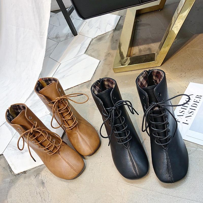 Booties Plus La Taille Hauts 33 Talons Chaussures Du Femme Botines Lacets Plateforme 2019 Femme Bottines Rétro Pour Noir De28 Femmes Mujer À Acheter WHE2ID9