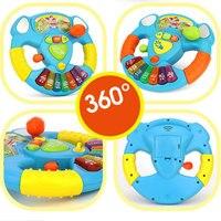 Dzieci Kierownicy Kierownica Nowością Zabawki Muzyczne Koordynację Ręka-oko Pomarańczowy Możliwość Uchwycenia Trąbka Symulacja Kierownicy Zabawki