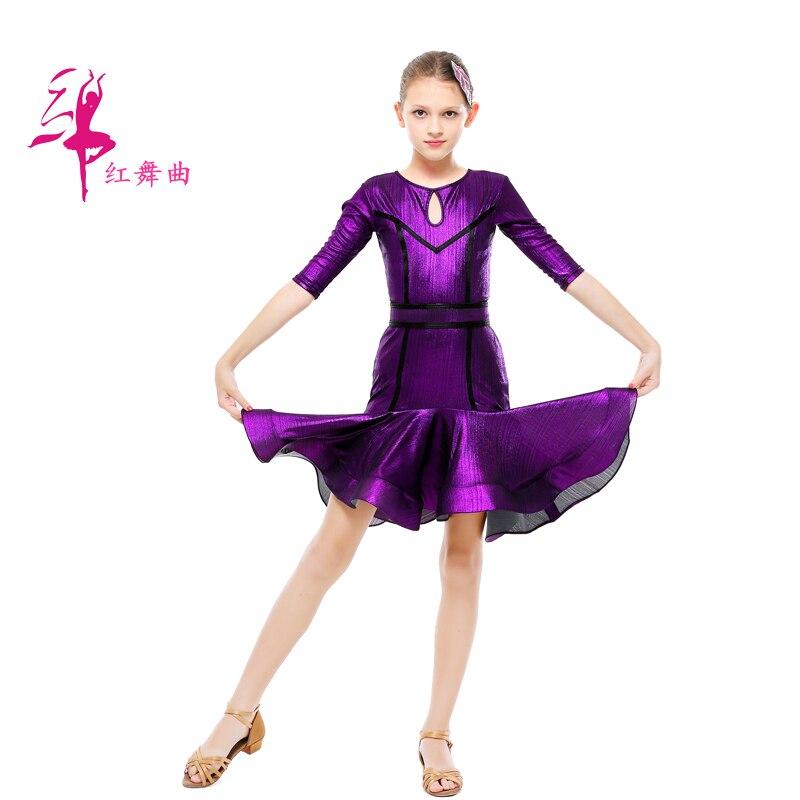Costumes de danse latine robe de danse latine pour filles concours féminin Costume Latin robe Standard robe de danse Salsa D-0715