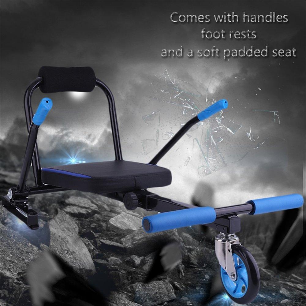 Kart créatif Style Hoverboard Kart 2 roues Scooters électriques siège de Kart Balance intelligente Hoverboard aller accessoires de tapis
