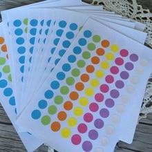 350 шт Новые горячие продажи винтажная красочная кольцевая этикетка наклейки для подарков бирка армирование наклейки отверстия