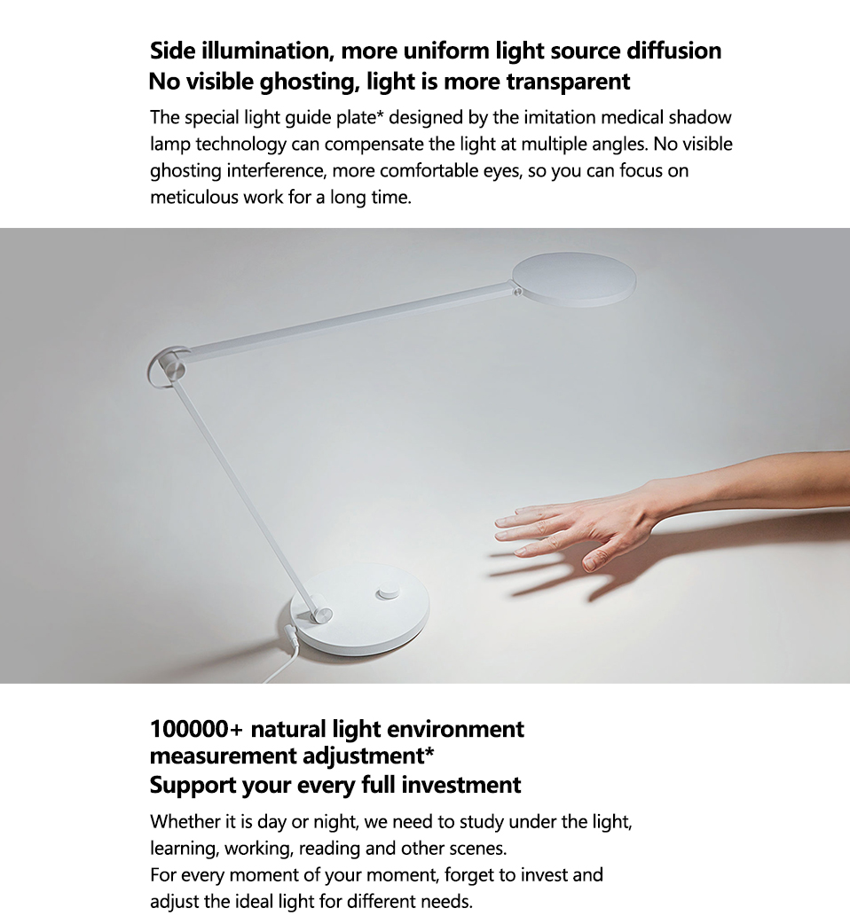 Xiaomi Mijia LED Desk Lamp Pro Smart Eye Protection Table Lamps Dimming Reading Light Work with Apple HomeKit Reading Light (16)