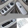 Matte ABS decoração lantejoulas Acessórios Do Carro do Windows nt Para Renault Clio IV 2013-2015 Hatchback de 5 portas