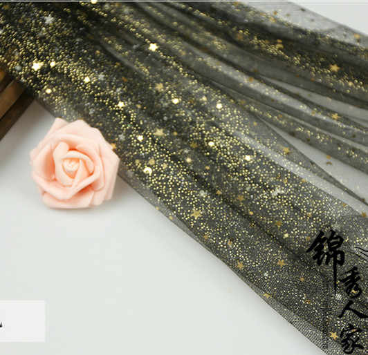Detail Feedback Questions about 150 100cm star shiny Gold Glitter Fabric  stage cloth sewing dress Net Fabric patchwork Material Wedding Dress  Clothes Fabric ... f601bd5a4a65