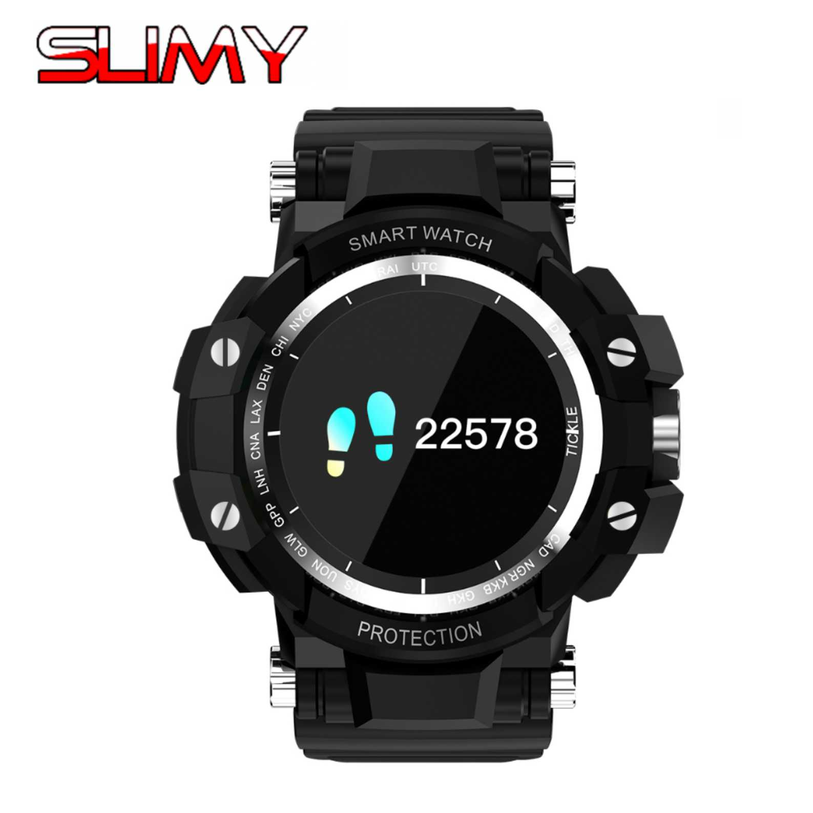 Slimy GW68 Smart Watch Blood Pressure Heart Rate Monitor Smart Bracelet Waterproof Bluetooth Watch For IOS Android PK XR02 EX18