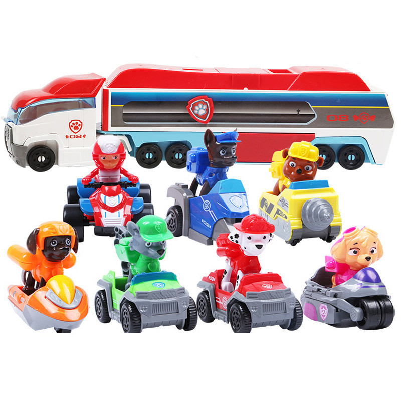 Paw Patrol Dog Mobile Rescue Big Bus Puppy Patrol Paw Patrol Deformation Children's Toy Gifts