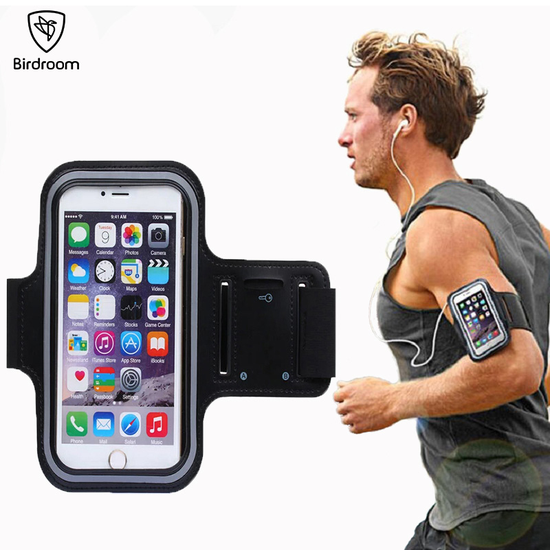 Birdroom 5.5 inch Armband For iPhone 6 6S 7 8 Plus Sports <font><b>Mobile</b></font> <font><b>Phone</b></font> Holder Waterproof Case Porta Celular Para Running <font><b>Arm</b></font> <font><b>Bag</b></font>