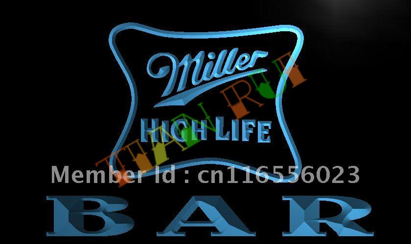 Miller muestra ligera al por mayor de alta calidad de china la436 miller high life beer bar led letrero de nenchina aloadofball Choice Image