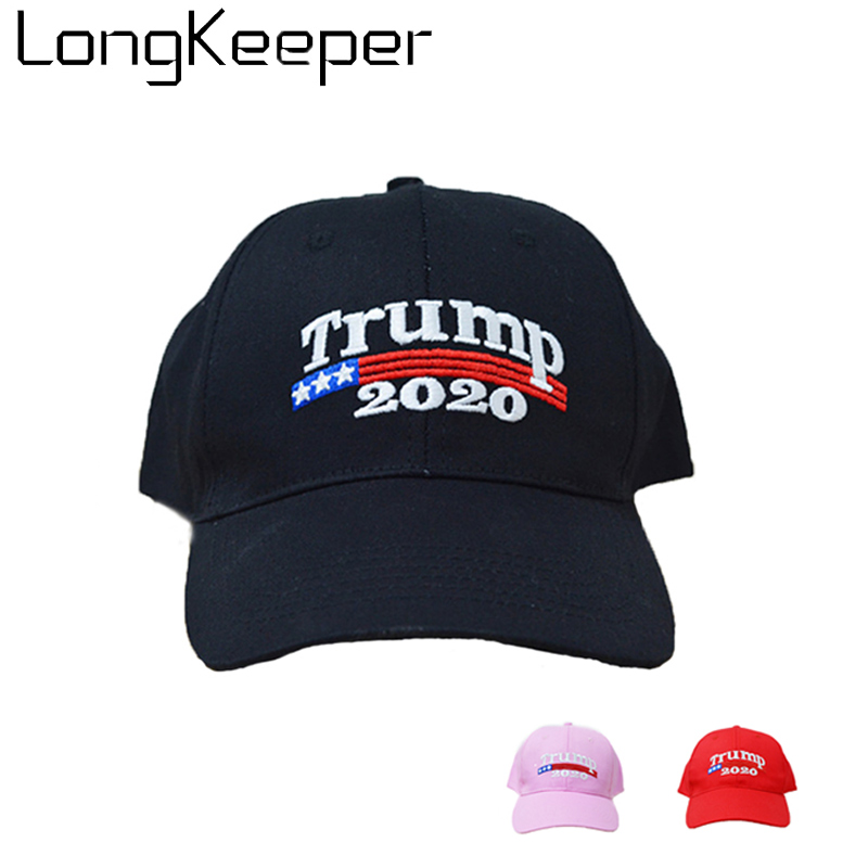 01248e3f2 US $4.46 10% OFF|Embroidery Trump 2020 KEEP AMERICA GREAT Black Red Pink  Donald Trump Baseball Caps Hats Mesh US Republican Adjustable Casual Hat-in  ...