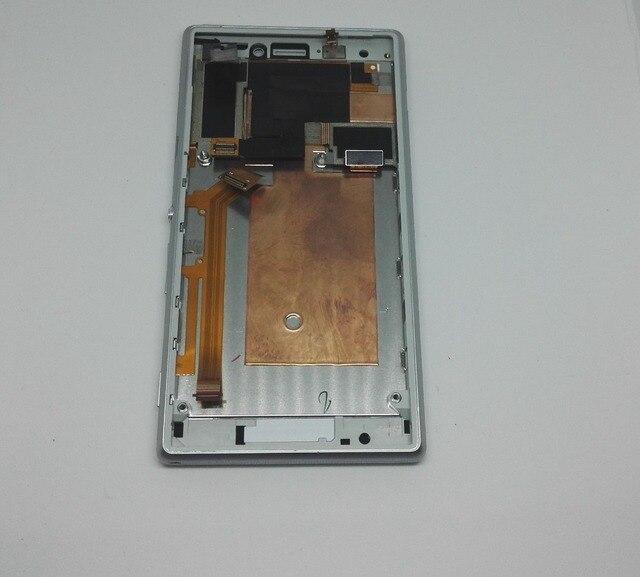 Branco para sony xperia m2 d2302 d2303 d2305 d2306 lcd screen display + painel de toque de vidro da tela + quadro substituição único sim