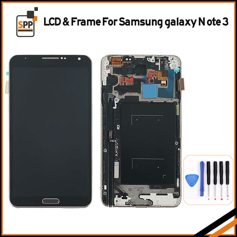 5.7 LCD display for Samsung Galaxy Note 3 N900 N9005 N900V N900A LCD screen touch digitizer frame assembly home button