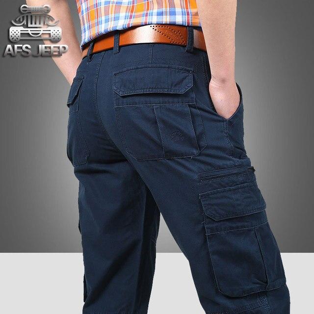 Colors 30~44 2017 Summer Autumn Mens Plus Size Pants Cotton Long Casual Trousers Man Straight Formal Fashion Big Size Pantalones
