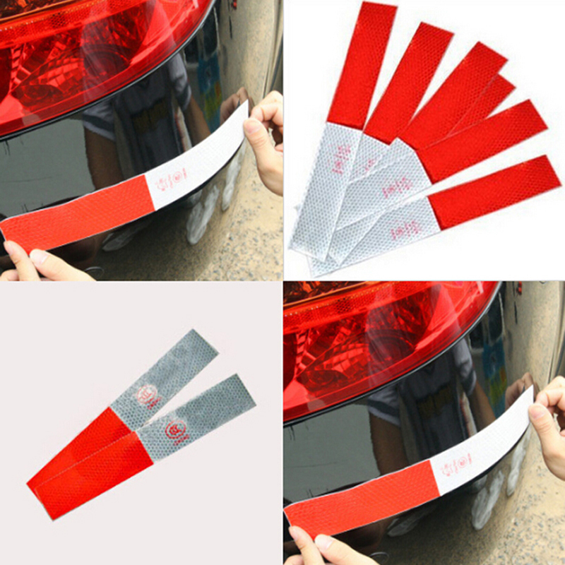 siparnuo 100pcs Car Styling Vinyl Film Strip truck warning Reflective tape Stickers Car Lighting Luminous Sticker Reflector car styling 5 meter reflective sticker automobile luminous strip car
