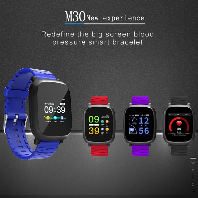 Wearpai M30 Smart watch blood pressure color screen fitness tracker Step Counter Activity Monitor smart sports watch men IOS 1